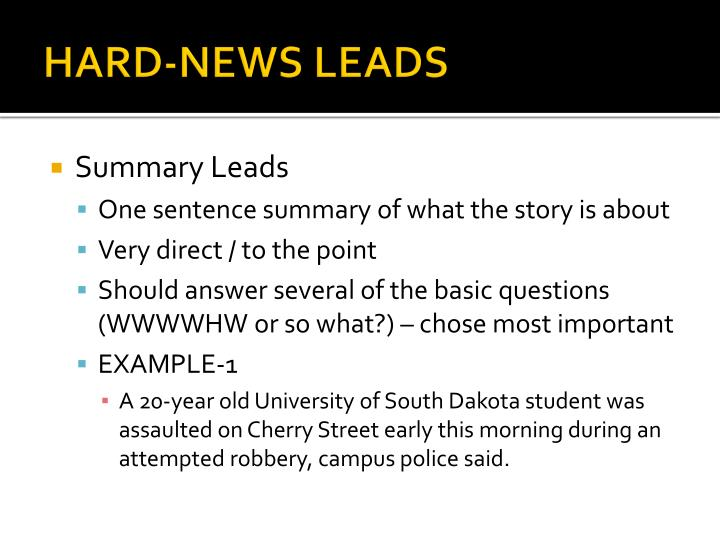 news leads