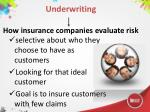 underwriting how insurance companies evaluate risk
