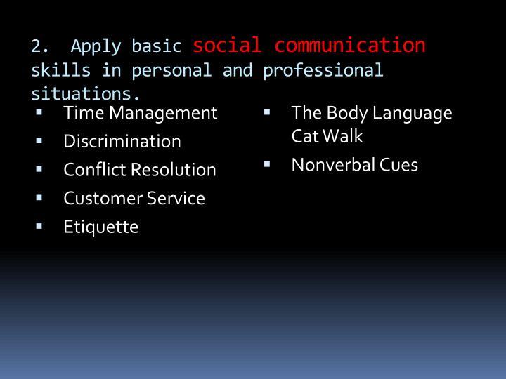 2.  Apply basic
