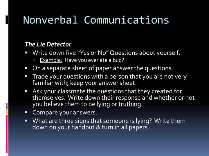 Nonverbal Communications