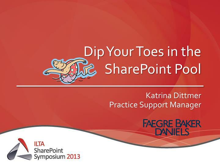 dip your toes in the sharepoint pool n.