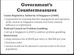 government s countermeasures