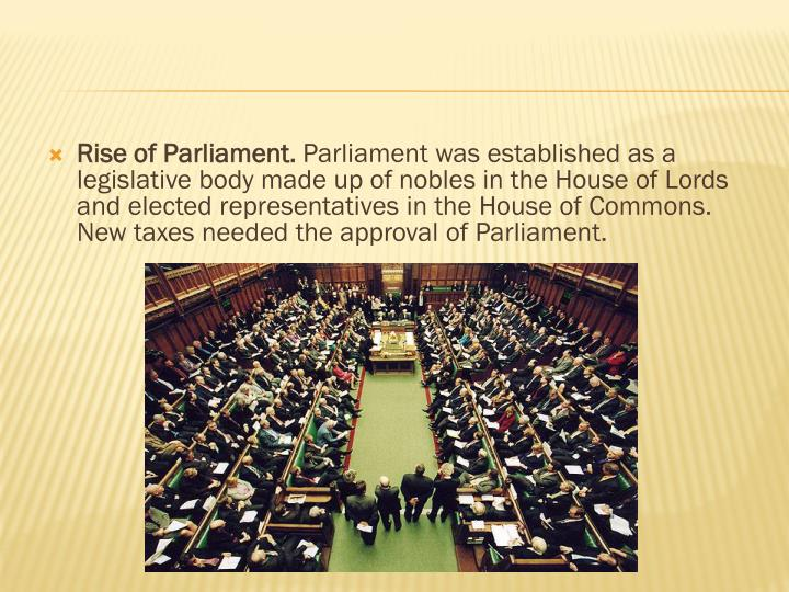 Rise of Parliament.