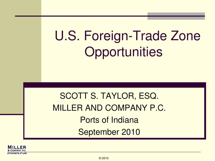 u s foreign trade zone opportunities n.
