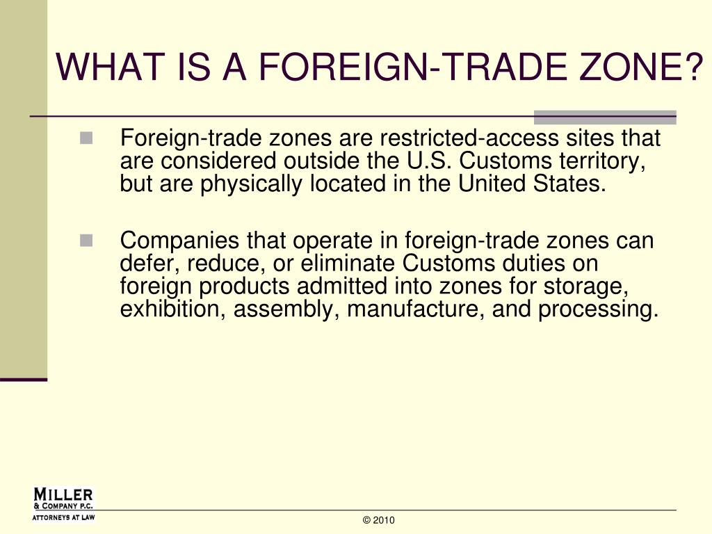 PPT - U S  Foreign-Trade Zone Opportunities PowerPoint
