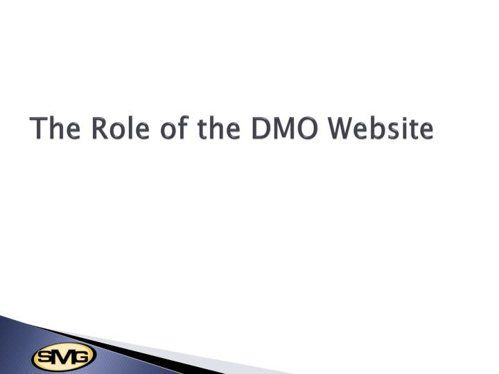 The Role of the DMO Website