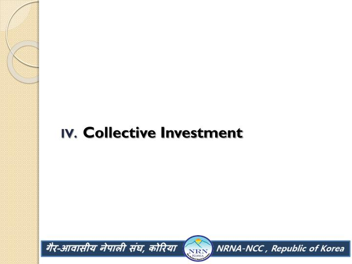Collective Investment