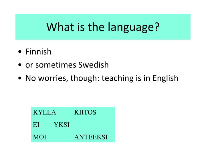 What is the language?