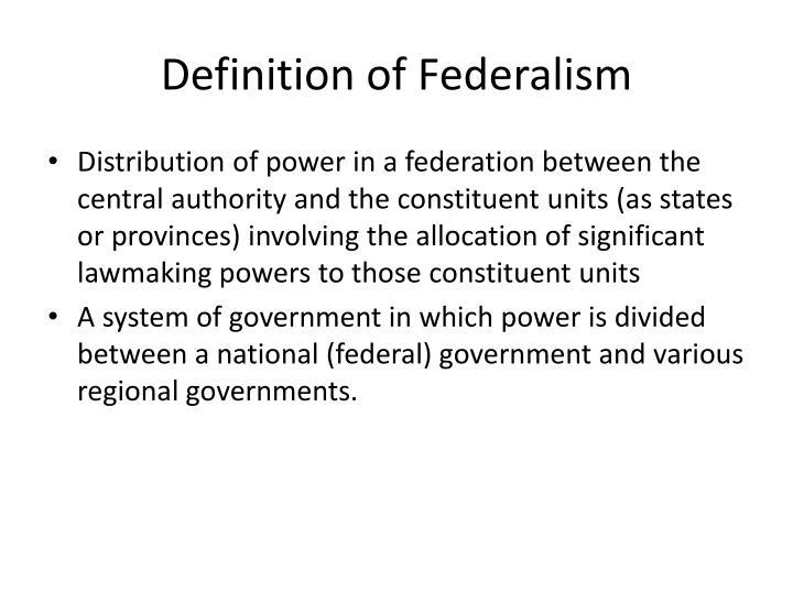 Definition of Federalism