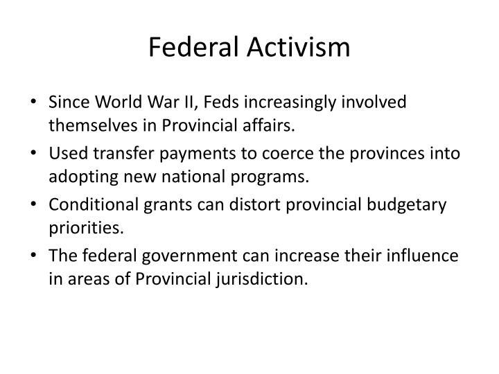 Federal Activism