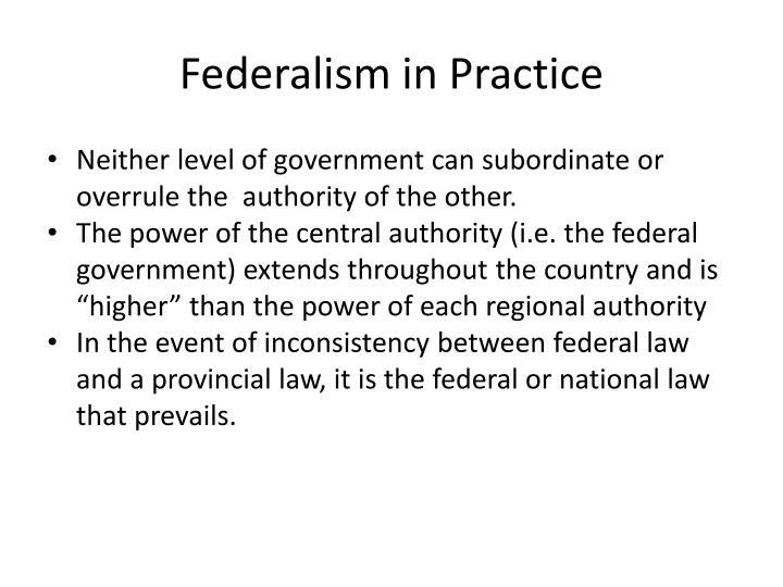Federalism in Practice