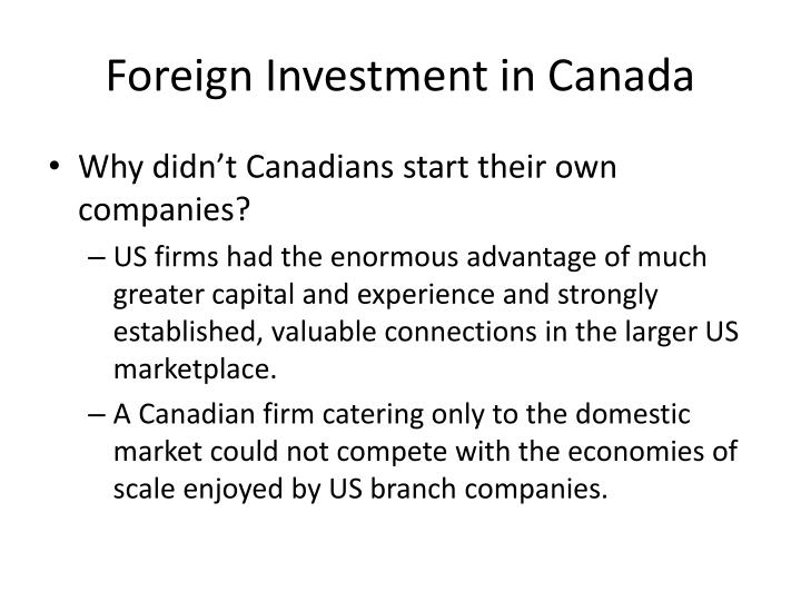 Foreign Investment in Canada