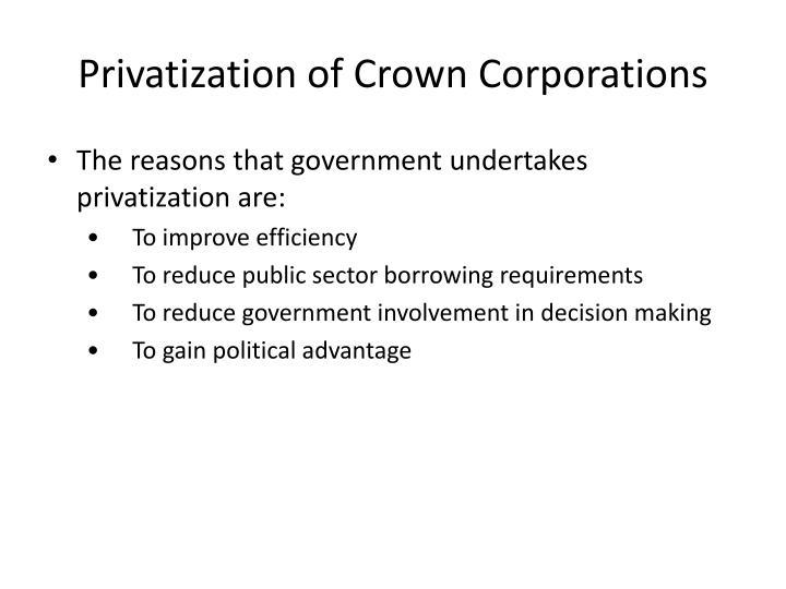 Privatization of