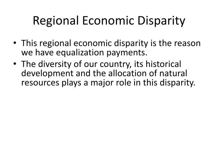 Regional Economic Disparity