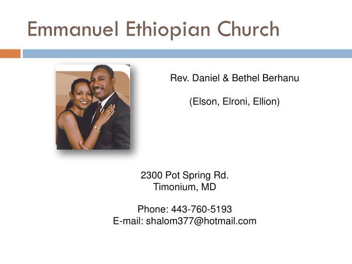 Emmanuel Ethiopian