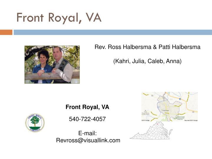 Front Royal, VA