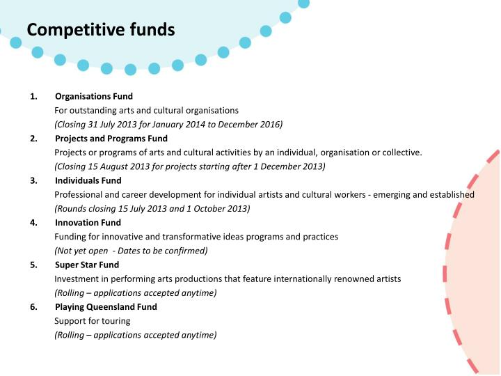 Competitive funds