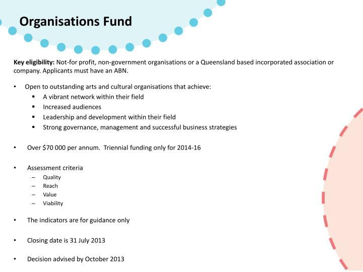 Organisations Fund