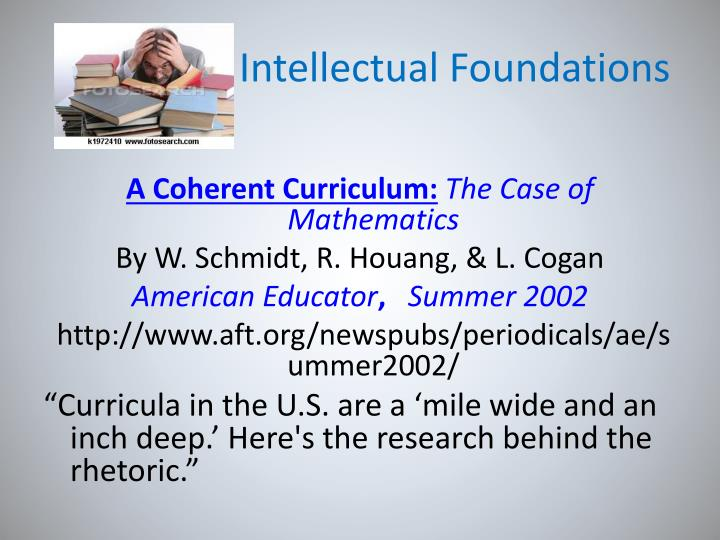 Intellectual Foundations