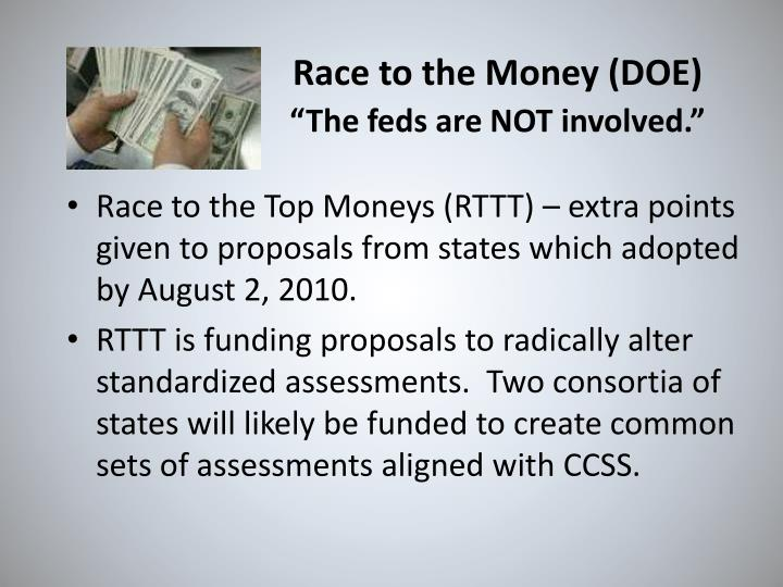 Race to the Money (DOE)