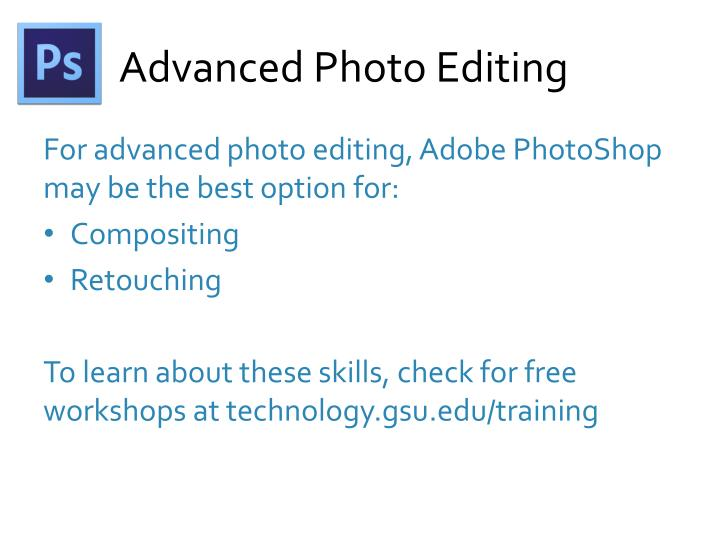 Advanced Photo Editing