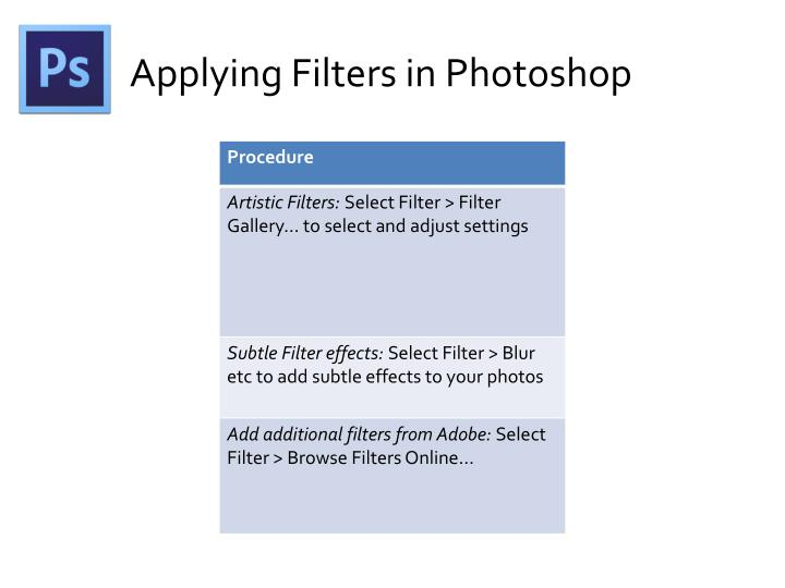 Applying Filters in Photoshop