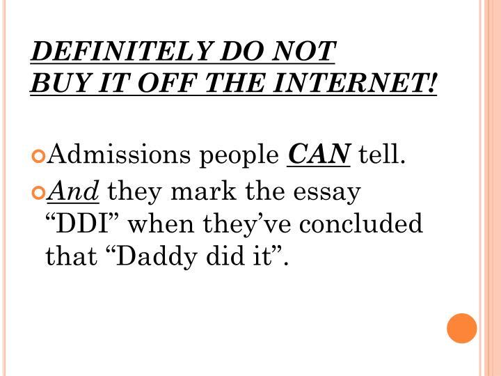 DEFINITELY DO NOT