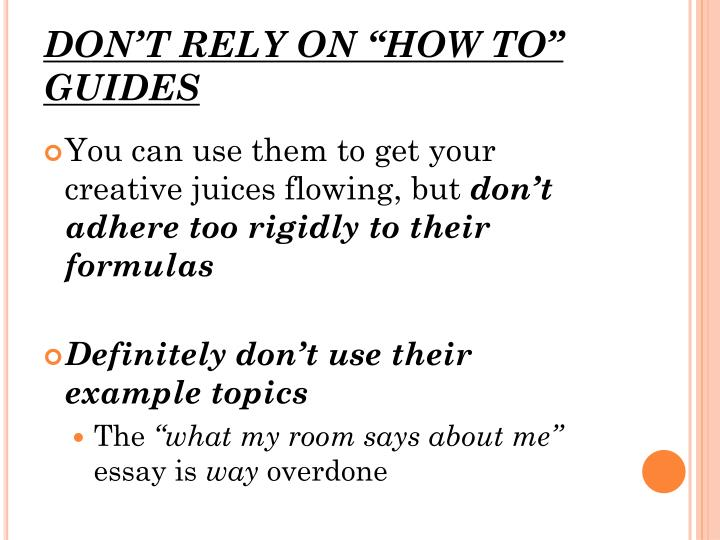 """DON'T RELY ON """"HOW TO"""" GUIDES"""