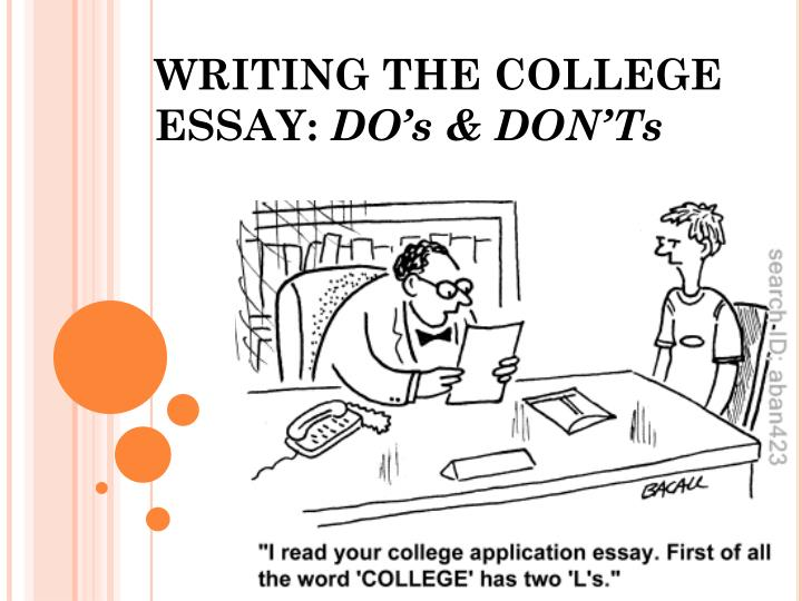 Writing the college essay do s don ts