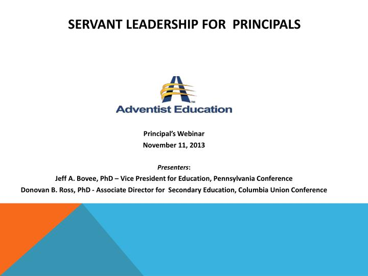 servant leadership for principals n.