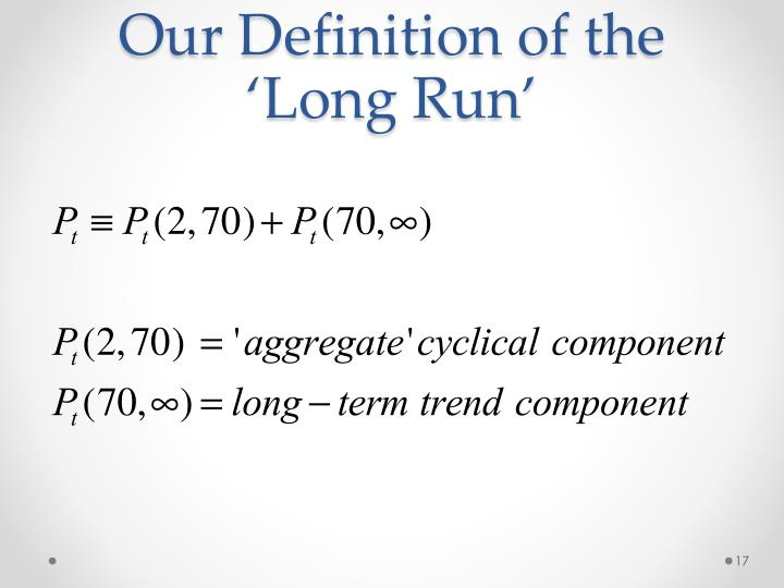 Our Definition of the 'Long Run'