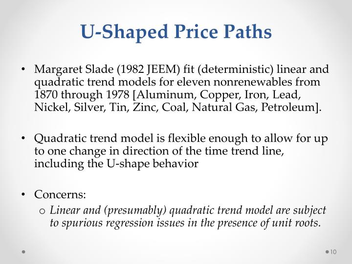 U-Shaped Price Paths