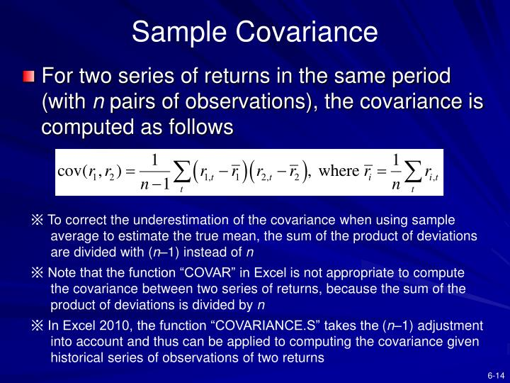 Sample Covariance