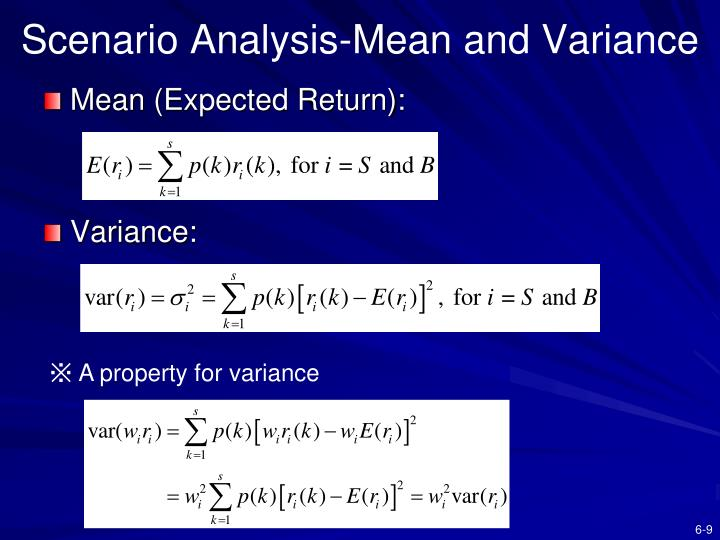 Scenario Analysis-Mean and Variance