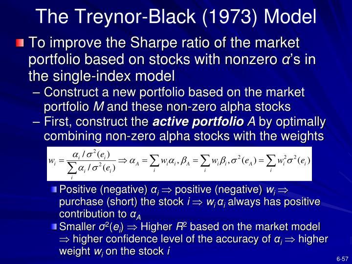 The Treynor-Black (1973) Model