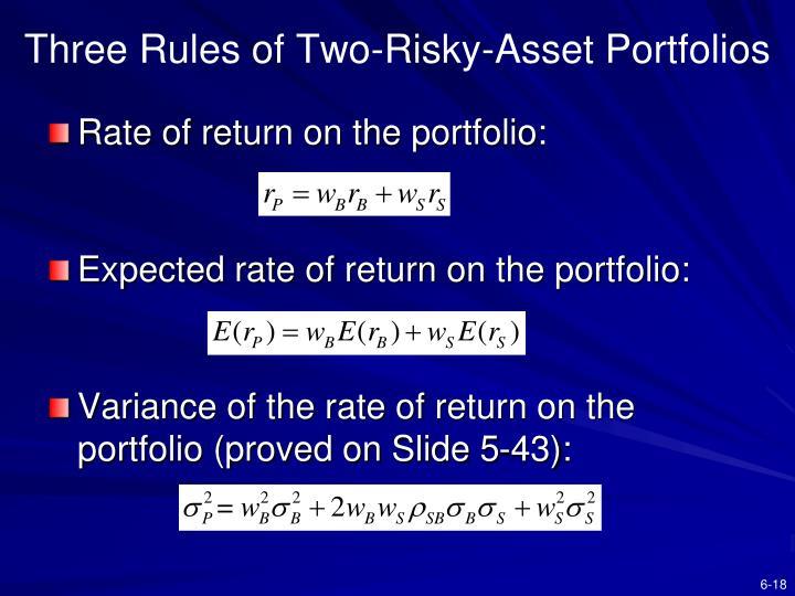 Three Rules of Two-Risky-Asset Portfolios
