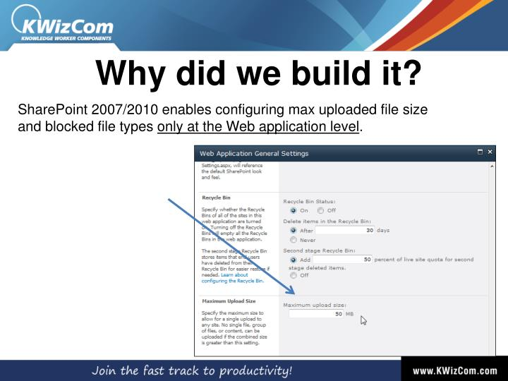 Why did we build it?