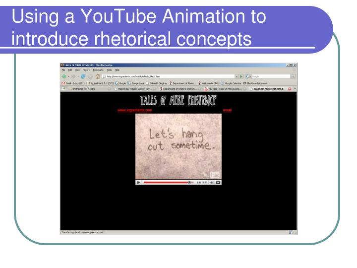 Using a YouTube Animation to introduce rhetorical concepts