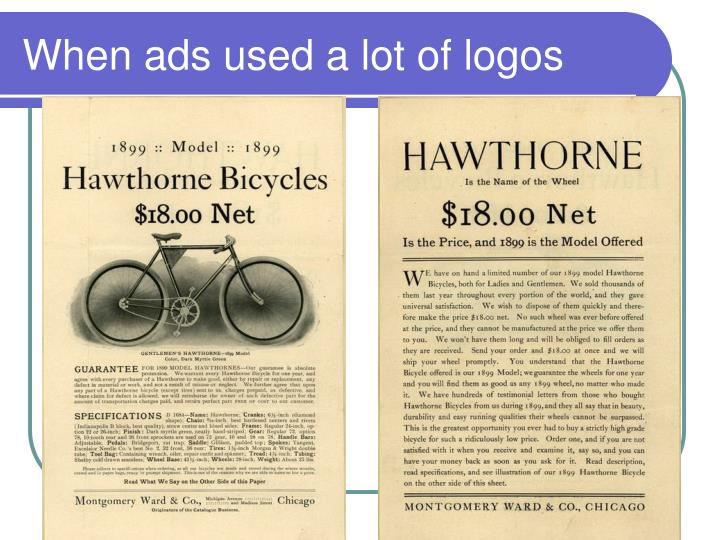 When ads used a lot of logos