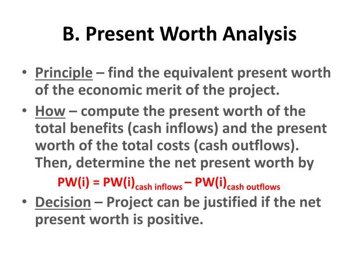 B. Present Worth Analysis
