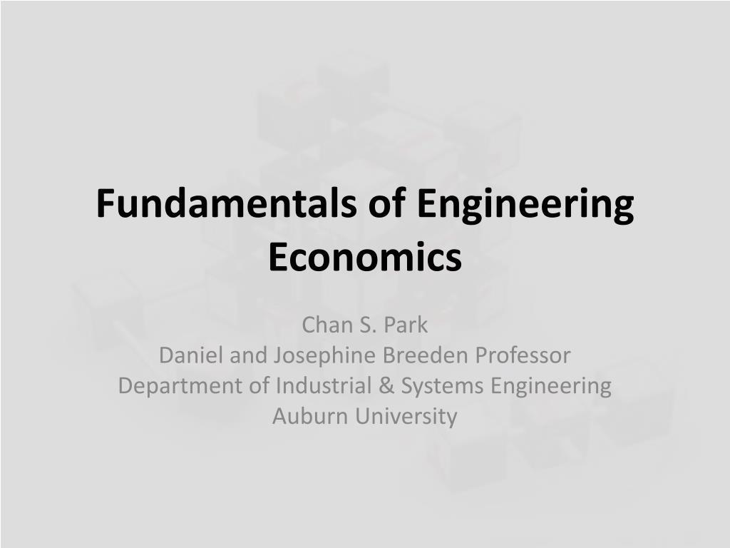 fundamentals of engineering economics n.