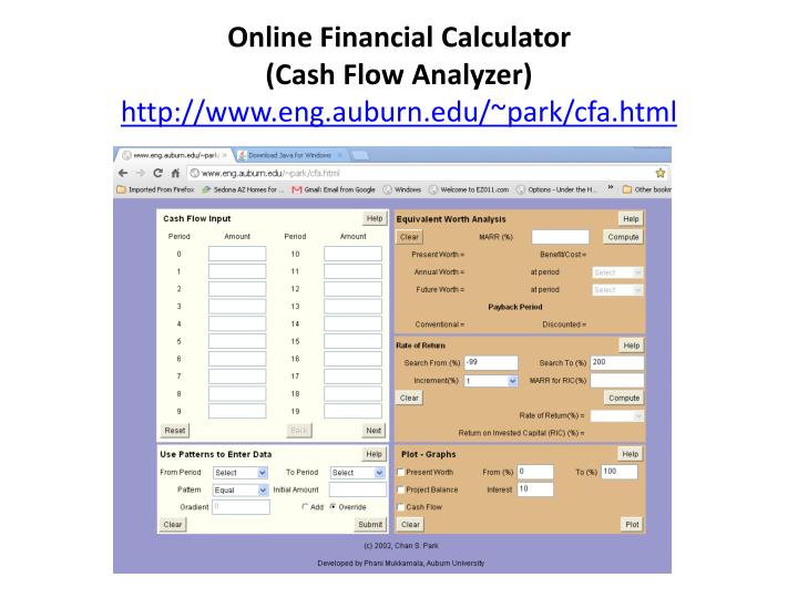 Online Financial Calculator