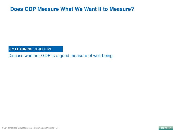 Does GDP Measure What We Want It to Measure?