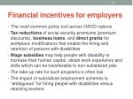 financial incentives for employers