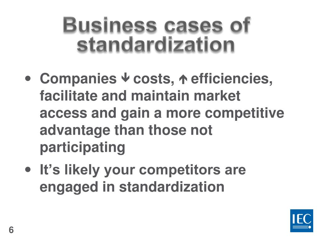 PPT - Business cases on standardization PowerPoint