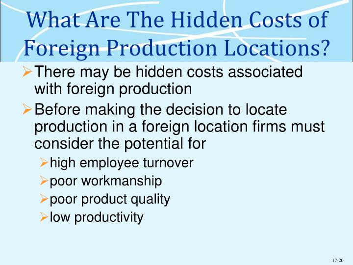 What Are The Hidden Costs of Foreign Production Locations?