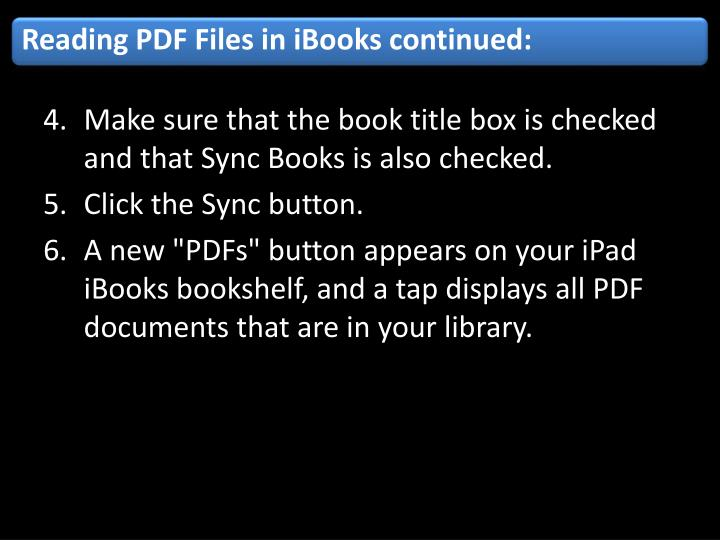 Reading PDF Files in