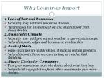 why countries import