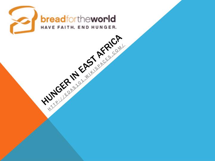 Hunger in east africa