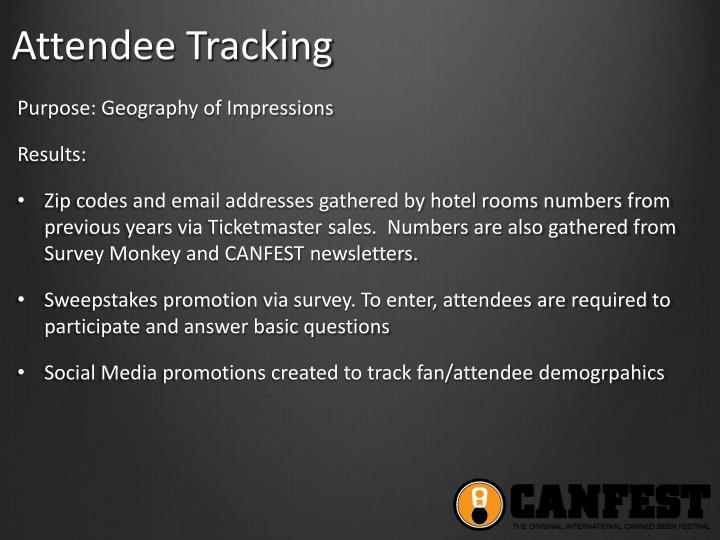 Attendee Tracking